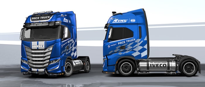 Sustainable ETRC 2021: IVECO contributes towards a virtually carbon neutral championship with an IVECO S-WAY NP pace truck