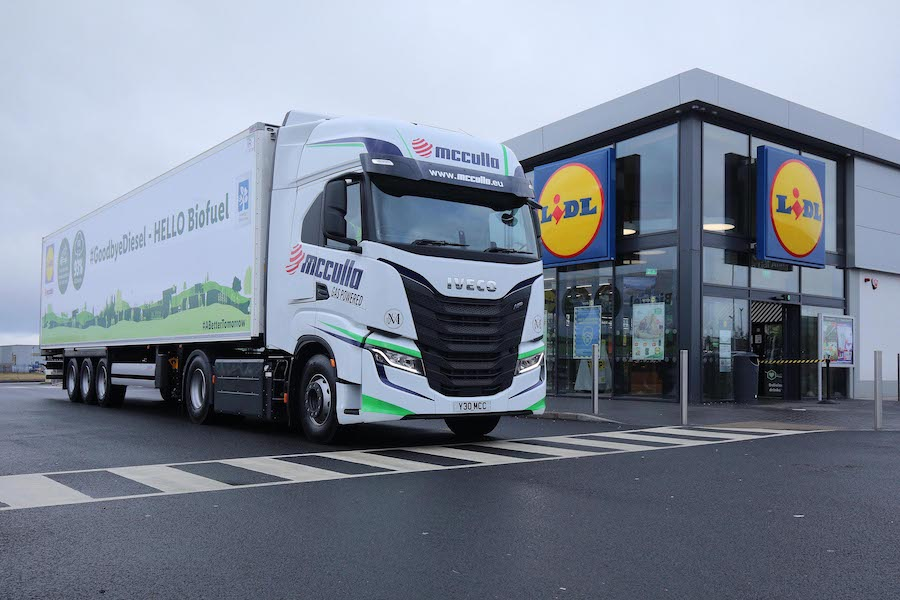 McCulla powers 10 new IVECO S-WAY NP CNG trucks on bio-methane gas generated from Lidl food waste