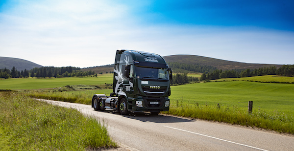 Two pioneers join forces - Scottish distiller Glenfiddich pioneers innovative decarbonisation of transport operations with IVECO Stralis Natural Power
