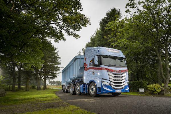 Tartaned up 570hp IVECO S-WAY joins JG McWilliam's fleet