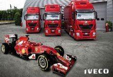 Three Iveco Stralis Hi-Ways for the most popular Formula 1 team