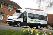 East Beds Community Bus takes delivery of the UK's first new Daily Line intercity minibus