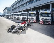 IVECO is Official Truck Partner of Alfa Romeo Racing and delivers a fleet of vehicles for the team's logistics