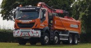 Sherwood Supplies IVECO Trakker To Cheshire Grab Hire