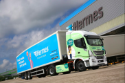 Hermes takes delivery of a further seven IVECO Stralis NP trucks after reducing fuel costs and emissions