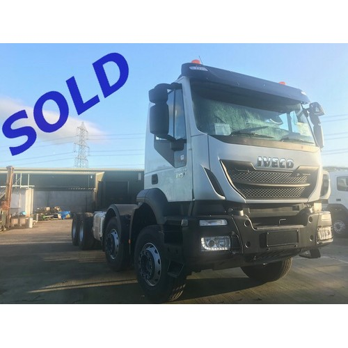 IVECO AD340T41, TRAKKER, TIPPER CHASSIS CAB, 8x4, EURO 6