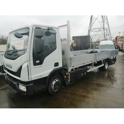*NEW* IVECO ML75E16S, CHASSIS CAB, 4815 W/B, 7.5T, 21FT SCAFFOLD DROPSIDE, EURO 6